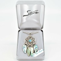 Storrs Wild Pearle Abalone Shell Feather Dreamcatcher Pendant & Necklace image 1