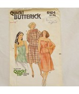 Summer Dress Size 12 Butterick 6104 Vintage Uncut Pattern 1970s Top Shawl - $14.99