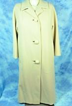 Bataldi Vintage 1950's Opera Coat Size M Blush Ivory Australian Lambs Wool - $148.45