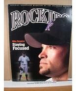 Rockies Scorecard Magazine Vol 10 No 2 May 2002 Mike Hampton - $11.69