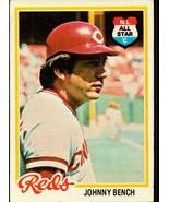 1978 Topps #700 JOHNNY BENCH Cincinnati Reds - $6.86