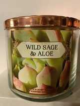Bath and Body Works WILD SAGE & ALOE Nectar Desert 3 Wick Candle 14.5 OZ - $24.23