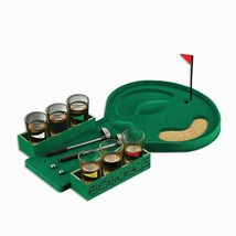 Mini Golf Drinking Game With 6 Shot Glass Party Toys Novelty Gifts Gag Toy  - $31.92