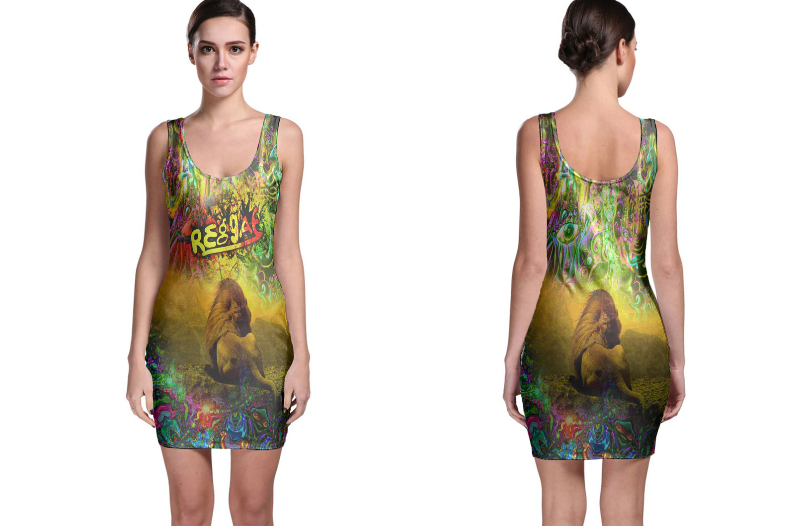 Primary image for Rasta Reggae Lion Bodycon Dress