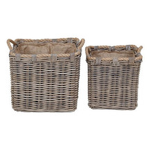 "Wicker Baskets w/ Fabric Liners 17""/13"" Set Of 2 - 35993 - $148.49"