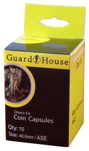 Guardhouse American Silver Eagle 40.6mm Direct Fit Coin Capsules, 10 pack - $6.99