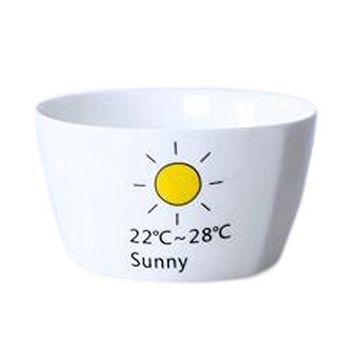 Primary image for Kylin Express 2 Pieces Creative Ceramic Fruit Tableware Bowl for breakfastRice B