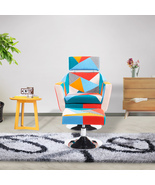 Multi-color Patchwork and Modern Leisure Fabric Chair Living Room Furniture - $129.99