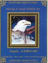 Counted Cross Stitch Pattern-Aquila-KUSTOM KRAFTS-EAGLE-Booklet-Christma... - $9.46