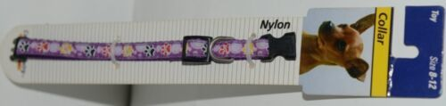 Canine Country 39401 Adjustable Dog Collar Purple Toy Size 8 12 Nylon Package 1