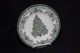 Staffordshire Engravings Yuletide Green Salad Plates and Soup Bowls image 9