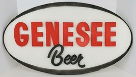 Vintage Genesee Beer Raised Lettering Oval Foam Sign Man Cave Bar Room 2... - $56.09