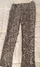 SO Brand Gray Cheetah Animal Print Skinny Knit Jeggings Girls Sz 12 Free... - $9.65
