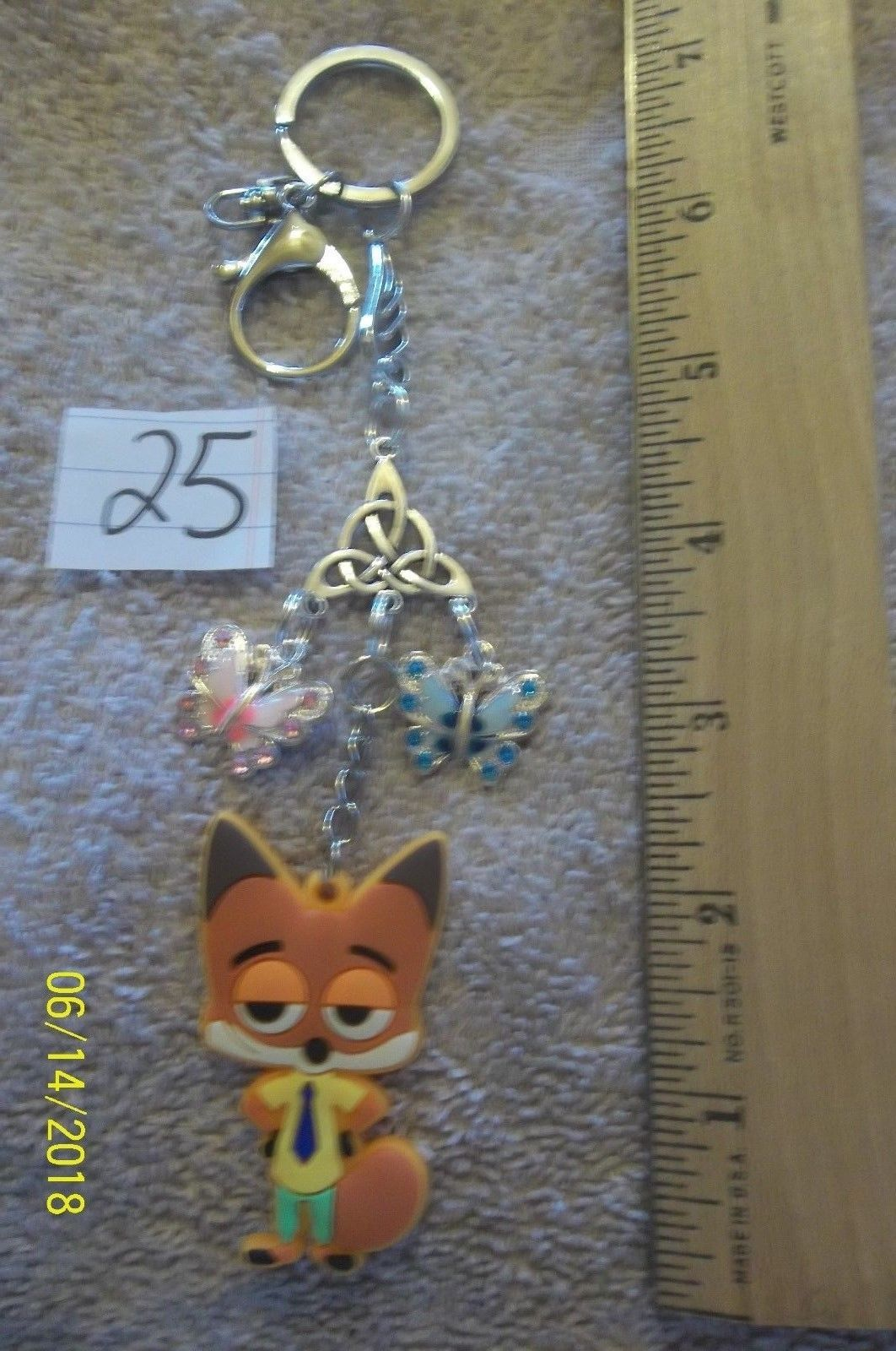 # purse jewelry silver color componant keychain backpack  dangle charm #25