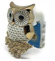 Bath & Body Works White Owl Gold Glitter Nightlight Wallflower Outlet Pl... - $10.40