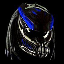 New Predator Motorcycle Helmet King Motive Blue (Dot & Ece Certified) - $250.00