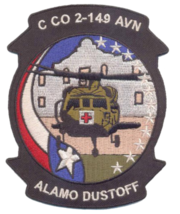 US Army C co 2-149 Alamo Dustoff Patch - $11.87