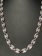 Men's Mariner Gucci Link Chain ICY Lab Diamond 14k White Gold Solid 925 ... - £120.73 GBP+