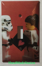Lego Star Wars White Soldiers Love Light Switch Power Outlet Duplex Cover Plate image 1