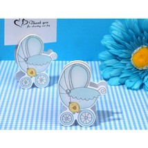 Adorable Blue Baby Stroller Place Card Holder - 72 Pieces - $63.95