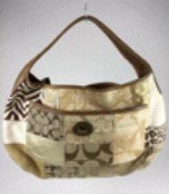 Coach Signature patchwork leather shoulder bag tote - $100.00