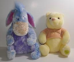 Disney Store Exclusive Winnie the Pooh Baby Pooh & Soft Eeyore Plush Stu... - $17.75