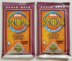 1991-92 Upper Deck Basketball Lot of 2 (Two) Sealed Unopened Packs. Jordan - $13.84