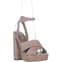 Steve Madden Jodi Platform Sandals, Black Suede, 9 US - $38.39
