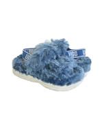 UGG FLUFF SUGAR BLUE SLIDE SLIP ON STRAPPY SANDAL US 8 / EU 39 / UK 6 - $111.27