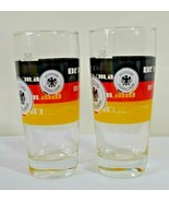 Deutscher Fussball Bund Set of 2 Glasses German Soccer 0.2L 2005 RKL - $15.99