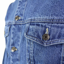 Star Jean Men's Classic Premium Button Up Cotton Denim Jean Jacket Blue image 3