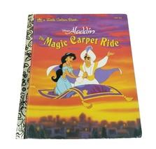 VINTAGE 1993 DISNEY ALADDIN MAGIC CARPET RIDE CHILDREN'S KIDS LITTLE GOL... - $14.96