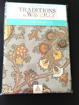 """Waverly Tablecloth 70"""" Round Floral Paisley Tennyson 100% Polyester Fabr... - €38,07 EUR"""