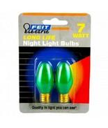 2 Pack Green 7 Watt Long Life Night Light Bulbs - $4.79