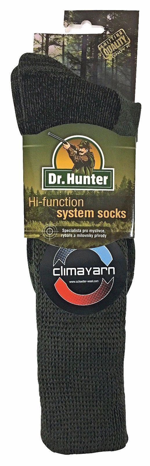 Dr Hunter  Homme Chaussettes Vertes Hautes Longues Laine Merinos sans Elastiques