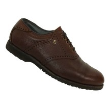 Vintage Footjoy Classics Dry Mens Size 9D Golf Shoes Spikeless Brown Lea... - $98.99