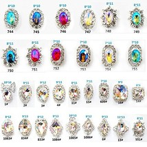 30PCS 3D Luxury Clear Colored Shining Diamond Rhinestone Alloy Nail Art ... - $12.86
