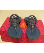 Femmes Tory Burch Pantoufles Grec Bleu Miller Veg Nappa Taille 6.5 US Neuf - $199.32