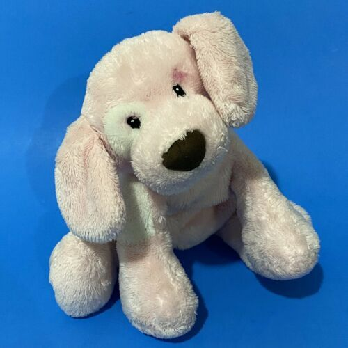Primary image for Baby Gund Spunky Plush Puppy Dog 8a' Pink Embroidered Bark Does Not Work 58373