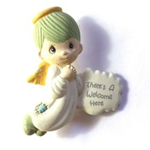 Vintage Precious Moments Pin Welcome Angel 1992 Plastic JN48 - $9.75