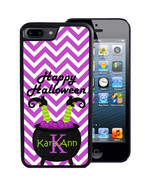 HALLOWEEN CASE FOR iPHONE X 8 7 6 5 SE 5C PLUS RUBBER PURPLE CHEVRON WIT... - $13.98