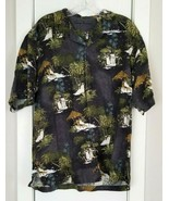 Tommy Bahama 100% Silk Mens Shirt Button Down Christmas Penguin Cocktail... - $45.00