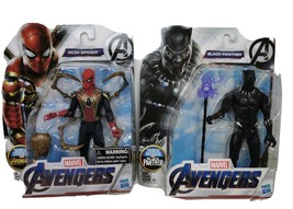 Marvel Avengers IRON SPIDER & the Black Panther Infinity War Movie Spide... - $29.09