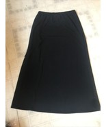 Royal Robbins Jersey Knit Travel Skirt Medium Knit Black No Slit, Modest - $24.95