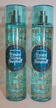 2 Bath & Body Works Frosted Coconut Snowball Fine Fragrance Mist SPRAY 8... - $18.04