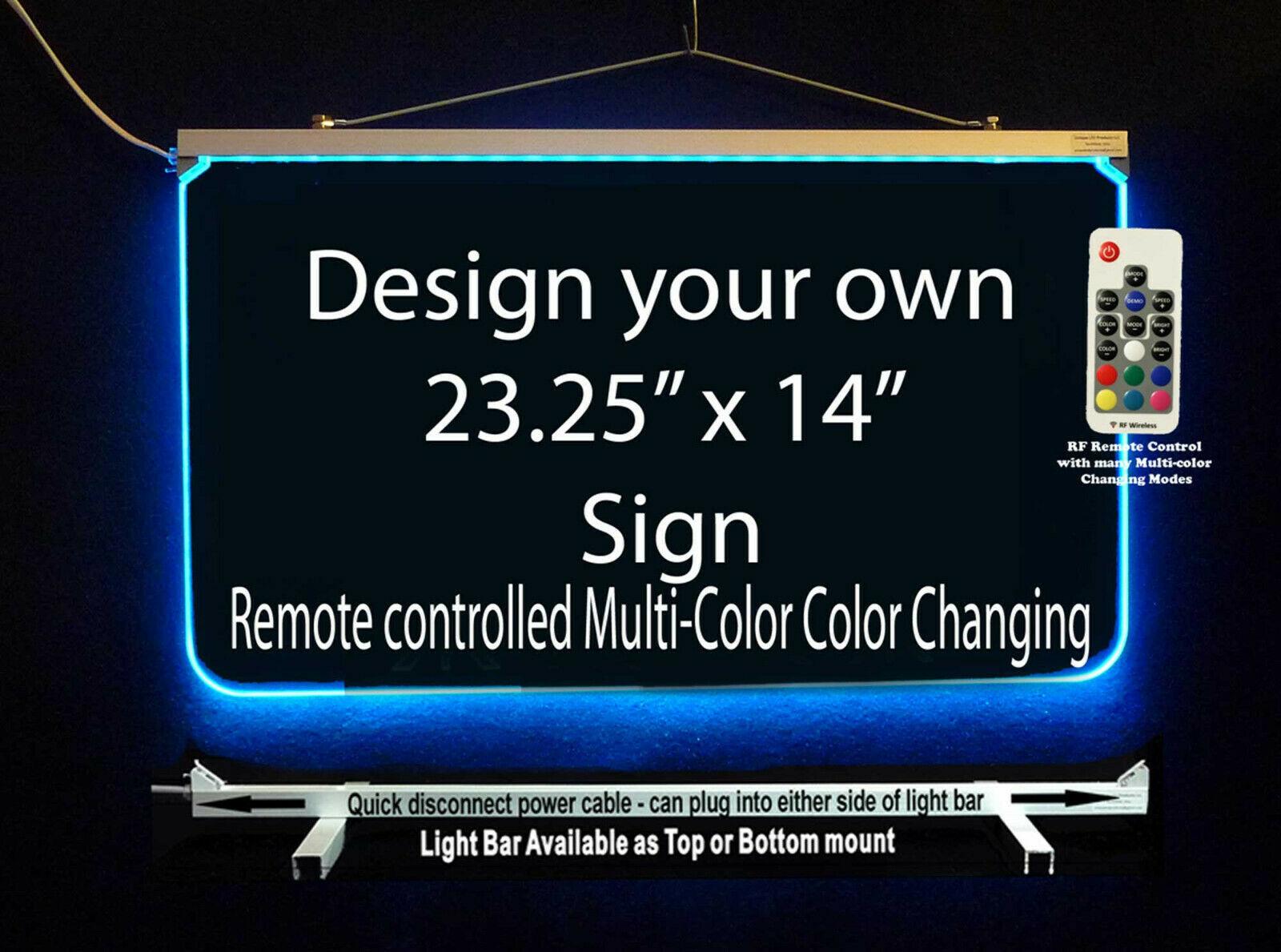 "Custom LED Sign, LED Acrylic 23.25"" x 14"", Design your own sign image 2"