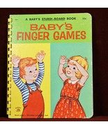Baby's Finger Games A Baby's Sturdi-Book 1959 Board Book Childrens - $9.30