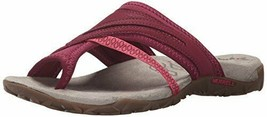 NEW Merrell Performance Berry Leather Size 8 Supportive Sport Thong Sandals - $69.99
