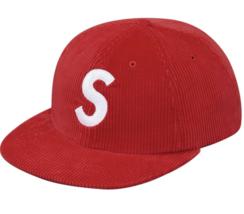 Supreme Corduroy S Logo Hat Red Box Logo SS17 - $80.00