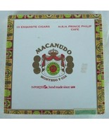Macanudo Square Cigar Box HRH Prince Philip Cafe Empty for Crafts Purses... - $4.95